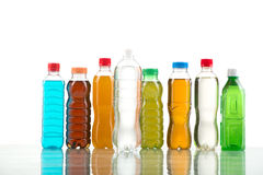 Bottiglia di colore isolata su un bianco Fotografia Stock Libera da Diritti