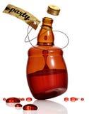 Bottiglia di Dancing di alcool. Fotografia Stock