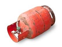 Bottiglia di gas del pericolo Fotografie Stock