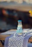 Bottiglia di latte Fotografie Stock