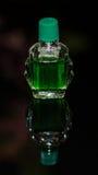 Bottiglia di liquido verde Fotografia Stock