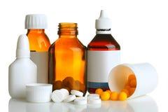 Bottiglia di medicina Fotografia Stock