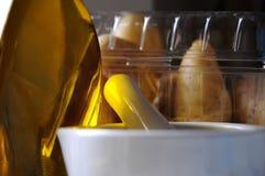 Bottiglia di olio Fotografia Stock Libera da Diritti