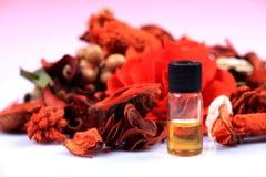 Bottiglia di olio curativa naturale Fotografia Stock