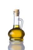 Bottiglia di olio da cucina su fondo bianco Fotografie Stock Libere da Diritti