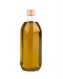 Bottiglia di olio isolata su bianco Immagine Stock