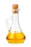 Bottiglia di olio su bianco Immagine Stock
