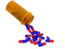 Bottiglia di pillola Immagini Stock