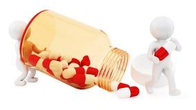 Bottiglia di pillola Immagini Stock Libere da Diritti
