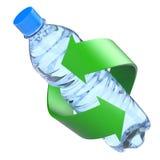 Bottiglia di plastica che ricicla concetto Immagini Stock Libere da Diritti