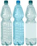 Bottiglia di plastica con acqua Immagini Stock Libere da Diritti