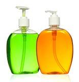 Bottiglia di plastica con sapone liquido Immagini Stock Libere da Diritti