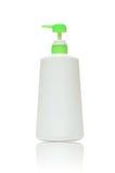 Bottiglia di plastica con sapone o sciampo Fotografie Stock