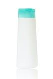 Bottiglia di plastica con sapone o sciampo Fotografia Stock