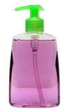 Bottiglia di plastica con sciampo o il cosmetico igienico Fotografia Stock