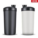 Bottiglia di plastica della bevanda di nutrizione di sport del modello Immagine Stock