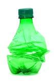 Bottiglia di plastica fracassata Fotografie Stock