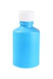 Bottiglia di plastica per medicina liquida Fotografia Stock Libera da Diritti