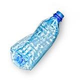 Bottiglia di plastica residua Immagini Stock