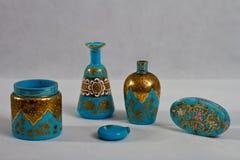 Bottiglia di profumo antica 1890 Fotografia Stock