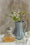 Bottiglia di profumo antica Immagini Stock Libere da Diritti