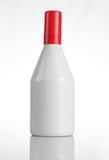 Bottiglia di profumo bianca con lo spiritello malevolo per i modelli Immagine Stock Libera da Diritti