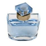 Bottiglia di profumo blu Immagini Stock Libere da Diritti