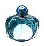 Bottiglia di profumo su bianco immagini stock