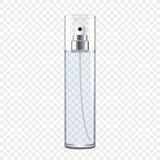 Bottiglia di profumo trasparente Fotografie Stock