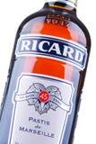 Bottiglia di Ricard, un aperitivo di pastis Fotografie Stock