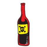 Bottiglia di rosso del veleno Fotografia Stock Libera da Diritti