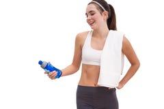Bottiglia di sguardo castana adatta di sport Fotografia Stock