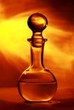 Bottiglia di vetro Fotografia Stock