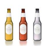 Bottiglia di vetro in bianco Fotografie Stock Libere da Diritti