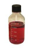 Bottiglia di vetro del laboratorio isolata immagini stock