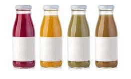 Bottiglia di vetro del succo Fotografie Stock