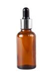 Bottiglia di vetro della medicina di Brown Fotografie Stock