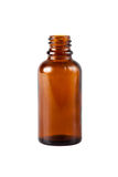 Bottiglia di vetro della medicina di Brown fotografia stock libera da diritti