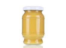 Bottiglia di vetro della senape Immagine Stock Libera da Diritti