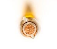 Bottiglia di vetro di olio con sughero Fotografie Stock
