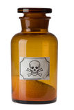 Bottiglia di vetro di veleno Fotografie Stock