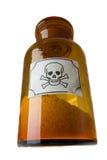 Bottiglia di vetro di veleno Immagini Stock