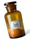 Bottiglia di vetro di veleno fotografia stock