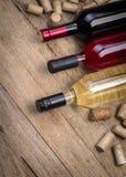 Bottiglia di vetro di vino Fotografia Stock Libera da Diritti
