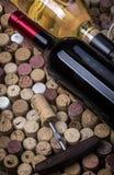 Bottiglia di vetro di vino Fotografia Stock