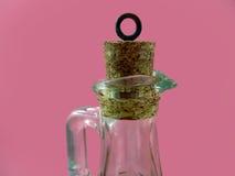 Bottiglia di vetro e tappo del sughero Immagini Stock