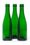 Bottiglia di vetro verde Fotografia Stock Libera da Diritti