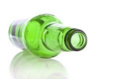 Bottiglia di vetro verde Fotografia Stock