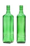 Bottiglia di vetro verde Immagini Stock Libere da Diritti
