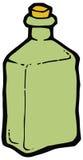 Bottiglia di vetro verde con il disegno di vettore del sughero royalty illustrazione gratis